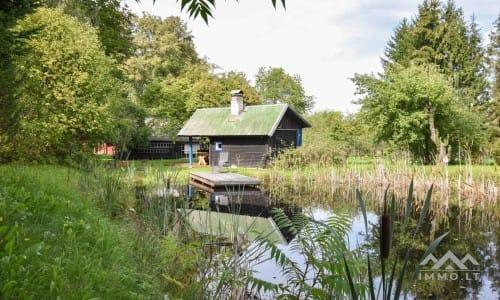 Gehöft mit privatem Teich