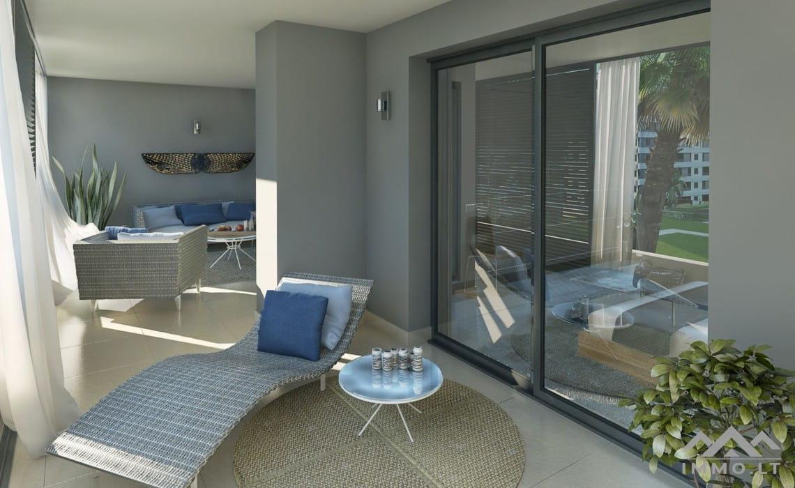 Apartamentai ant jūros kranto