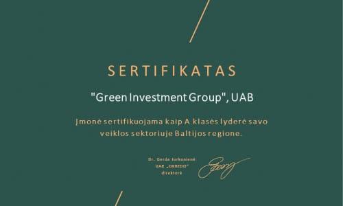"ABALT sertifikatas ""Baltic Business Masters 2021"""