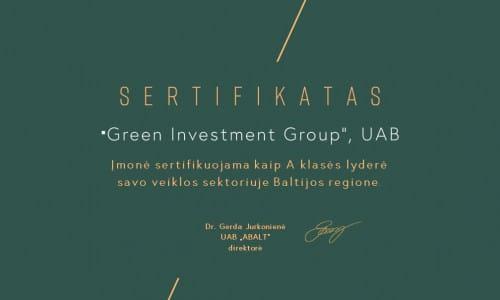 "ABALT sertifikatas ""Baltic Business Masters 2020"""